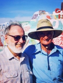 Seymour Rosen with Salvation Mountain artist Leonard Knight