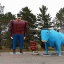 Cyril Dickinson and James Payton, Paul Bunyan and Babe the Blue Ox